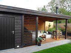 Cottage Garden Design, Backyard Garden Design, Backyard Landscaping, Home And Garden, Outdoor Seating Areas, Garden Seating, Outdoor Rooms, Outdoor Decor, Garden Lodge