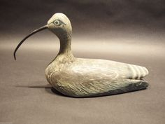 Old Vintage Hand Carved Painted Duck Hunting Decoy Folk Art Shorebird Paint