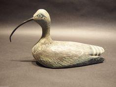 Old Vintage Hand Carved Painted Duck Hunting Decoy Folk Art Shorebird Paint