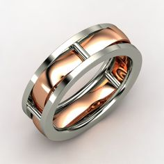 not practical but i love it. Totally custom men's wedding bands from Gemvara | Offbeat Bride