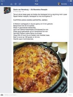Braai Recipes, Veggie Recipes, Cooking Recipes, South African Dishes, South African Recipes, Kos, Savoury Dishes, Food Dishes, Light Recipes