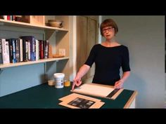 Laura Boswell, Printmaker, describes her tabletop registration device for reduction linocut printing.