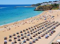 Praia do Peneco - main beach of famous Albufeira resort in Lagos, Algarve, Portugal | Portugal Travel Guide: What to Do and See