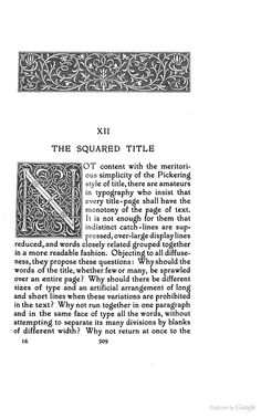 Title-pages as Seen by a Printer: With Numerous Illustrations in Facsimile ... - Theodore Low De Vinne - Google Books - Initial N