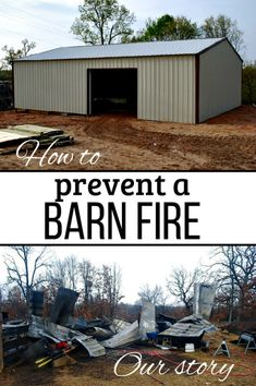 Barn fires are most common in the winter and summer months, but they can happen any time of the year. Here's what happened to our barn - and our goats - and ten ways you can help prevent a barn fire and keep your livestock safe. Keeping Goats, Raising Goats, Goat Care, Boer Goats, What Happened To Us, Homestead Farm, Starting A Garden, Fire Safety, Hobby Farms