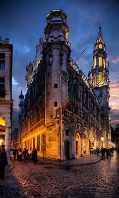 Brussels, Belgium - I think the photo is amazing becuase of all the colours that are created by the lights and the sky