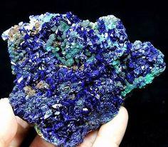 Best-lustrous-Electric-Blue-Azurite-on-Green-Malachite-Sepon-Mine-Laos-CM670386