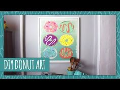 DIY Donut Art. Easy to follow video. Could be great as a maker idea.