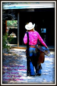 This is such a good picture! I love that you can see the horse in the barn!  #horse #barn #cowgirl #western