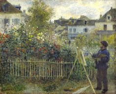 Auguste Renoir - Monet Painting in His Garden at Argenteuil, 1873