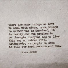 21 R.M. Drake Poems To Read When You're Feeling Lost Or Alone | Thought Catalog