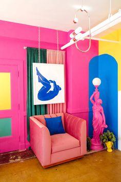 Dazey Den - Vibrancy Photo Studio | Dazey LA Indie Room Decor, Living Room Decor, Young Adult Bedroom, Colourful Living Room, Room Interior Design, Dorm Decorations, New Furniture, Home Decor Inspiration, Bedroom Wall