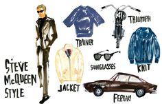 Steve McQueen Style-miyuki ohashi illustration