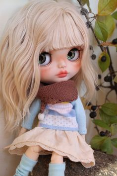 Elise Custom Blythe Doll OOAK Art Doll by NDsDazzlingDollys