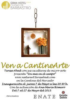 Cartel exposición micro arte Teresa Abad