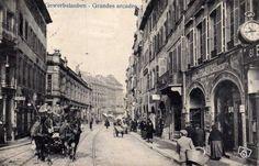 Ancienne carte postale Strasbourg Grandes Arcades