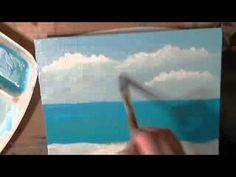 Easy Clouds, Acrylic painting for beginners,#clive5art - YouTube
