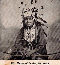 Too-hot-ko (the son of Horse Back) - Nokoni Comanche - circa 1872
