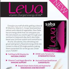 Saba's vitamin-charged energy drink! Email me to order! mamapreneur83@gmail.com