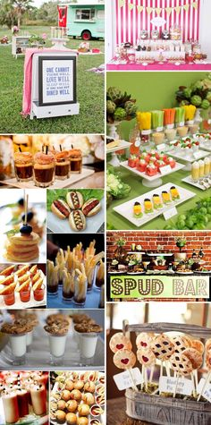 Ideas For Wedding Food Buffet Bbq French Fries Cocktail Déjeunatoire, Party Food Bars, Wedding Food Stations, Reception Food, Food Displays, Good Food, Fun Food, Appetizers For Party, Parties Food