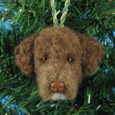 Custom Pet Christmas Ornament  Needle Felted Dog / Cat by KaysK9s, $75.00