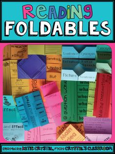 Lots of great foldable ideas for reading- cause and effect, summary, main idea…