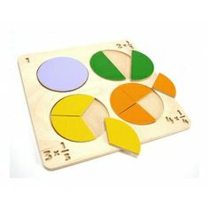 Educational toy in the form of puzzles that helps to understand fractions. Made by Neo-Spiro.
