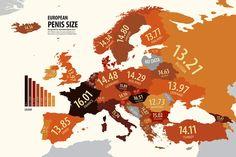 Die Welt aus der Sicht von ...   Alle Infografiken in der Übersicht - inklusiver der Penisgrößen Europas.