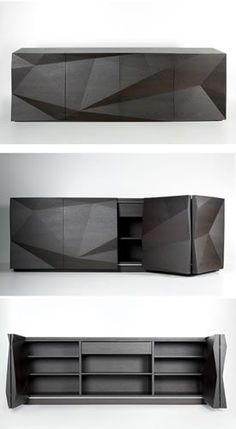 Modern Furniture // Usona Home Sideboard in dark wood