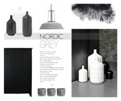 """""""Nordic Grey"""" by nmkratz ❤ liked on Polyvore featuring interior, interiors, interior design, home, home decor, interior decorating and H&M"""