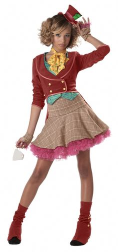 Host a tea party in this teen Mad Hatter costume dress! The girls Mad Hatter costume is just one of our Alice in Wonderland costumes for teens. Check out all of our teen storybook costumes. Mad Hatter Halloween Costume, Mad Hatter Costumes, Cute Costumes, Teen Costumes, Costume Ideas, Halloween City, Disney Halloween, Scary Halloween, Pretty Halloween