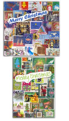 Kerst 2013 is van de Kerstpostzegels. Verzamelen, weken, drogen, sorteren, opplakken.