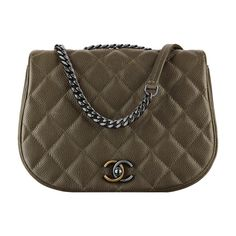 3ba54f3d6df7 grained calfskin, ruthenium metal gold metal ❤ liked on Polyvore featuring  bags, chanel, courier bag, brown messenger bag, messenger bags, brown bag  and ...
