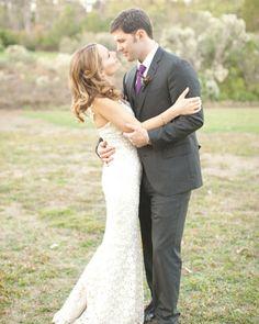 Her dress....his suit & tie color.