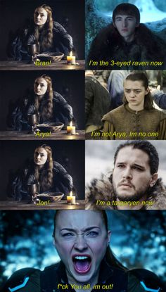 I'm so mad at Arya for trying to accuse Sansa of betraying the Stark family & threatening her life. Lord Eddard Stark was right, daughters are harder to deal with than war. Good luck to Jon keeping them in line. Game Of Thrones Jokes, Arte Game Of Thrones, Game Of Thrones Theories, Lord Eddard Stark, Arya Stark, Stark Family, Zack E Cody, Game Of Thones, Got Memes