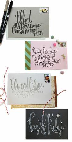 amazing lettering on envelopes