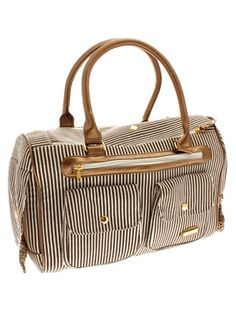 London Pet Carrier. I need to be toting Miles around in this bag! I love the stripes and the gold accents. Def. going on my birthday/xmas wish list!