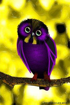 Vector Purple Owl by Georgeacles