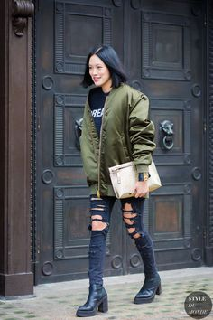 In Fashion: The (Green) Bomber Jacket