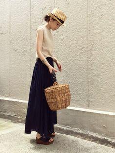 ari☆さんの「WOMEN UVカットワイドリブノースリーブセーター(ユニクロ)」を使ったコーディネート