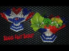 How To Make Beaded Fruit Basket||পুতির ফলের ঝুড়ি||مطرز سلة الفاكهة - YouTube