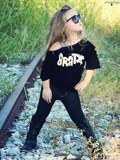 Emersyn rockin' a cut punk shirt from Chickie Bow! www.chickiebow.com