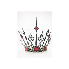 Queen of Hearts Crown Tiara Evil Queen Tiara Steampunk Crown Cosplay |... ❤ liked on Polyvore featuring costumes