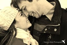 Adorable winter couple picture ideas | snowy engagement picture ideas | Deanna Loren Photography