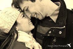 Adorable winter couple picture ideas | snowy engagement picture ideas | Deanna Loren Photography