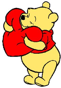 Winnie the Pooh with Heart Tunisian Simple Stitch Crochet Afghan Graph Pattern Winnie The Pooh Decor, Winnie The Pooh Tattoos, Winnie The Pooh Drawing, Winnie The Pooh Pictures, Winnie The Pooh Christmas, Cute Winnie The Pooh, Winne The Pooh, Disney Drawings, Cute Drawings