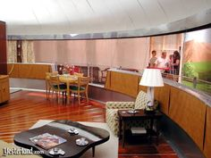 dymaxion house | ring of curved windows wraps around the Dymaxion House.