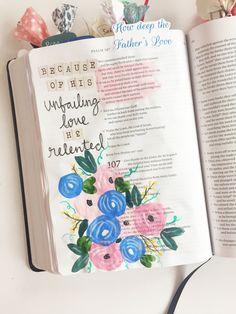 Faith Heirlooms - Bible Journaling - Gouache - Floral - Flowers - Paint