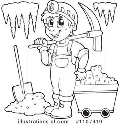 Gold Mining Coloring Pages