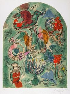 chagall4133 Marc Chagall Windows for Jerusalem, The Tribe of Asher